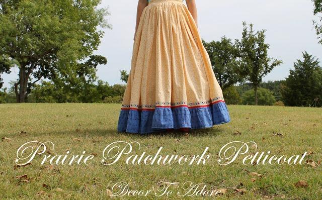 Becoming Laura Ingalls Wilder prairie patchwork petticoat