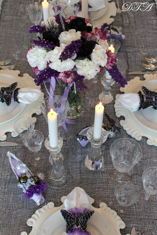Cinderella & the Ugly Stepsister Soiree centerpiece