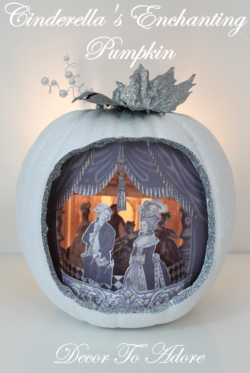 Cinderella  & the Ugly Stepsister Soiree Pumpkin Diorama