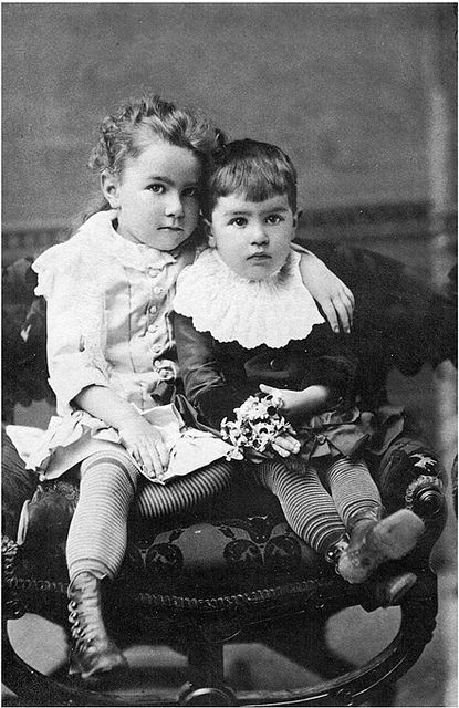 Children wearing stockings