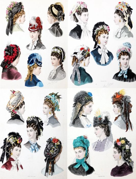 Ad of various bonnets