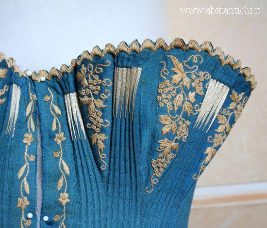 Abiti Antichi embroidered corset