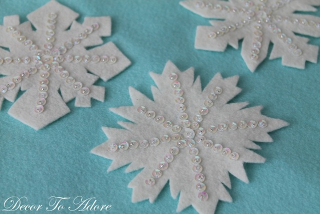 Sequin Snowflakes