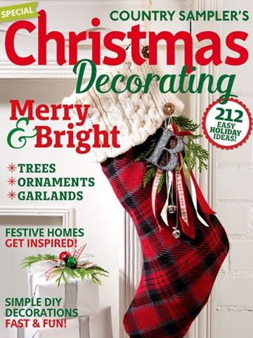 country sampler christmas decorating magazine decor to adore