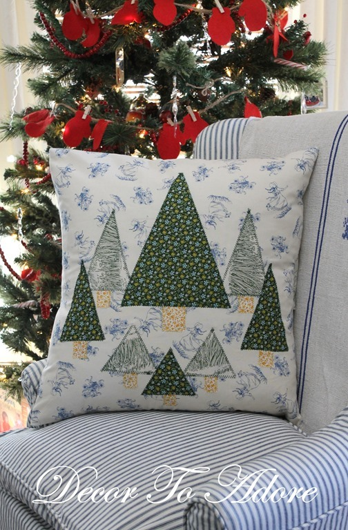 Make Your Own Little House Inspired Pillows tree
