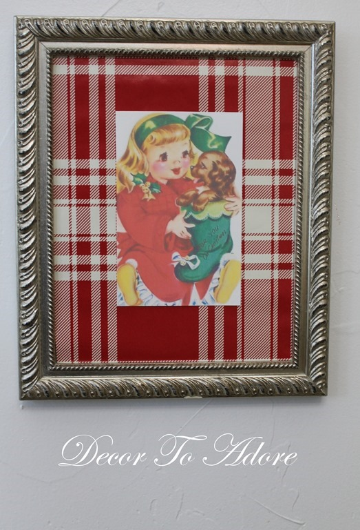 Cozy Christmas frame with image