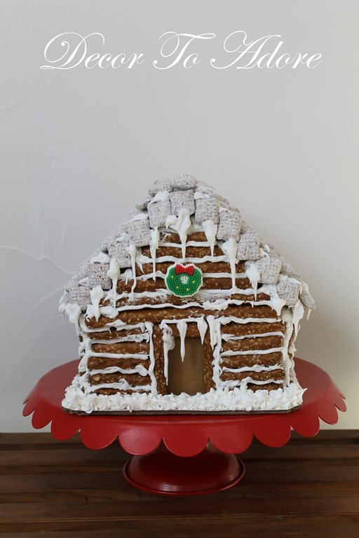 Gingerbread Log Cabin icing