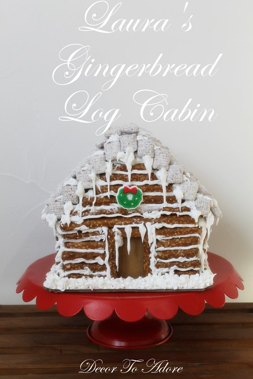 Little House Gingerbread Log Cabin
