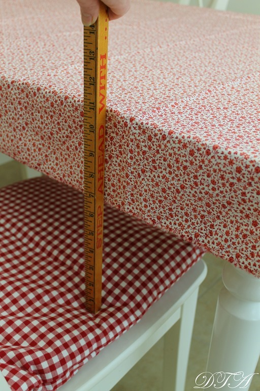 Little House Kitchen tablecloth overhang