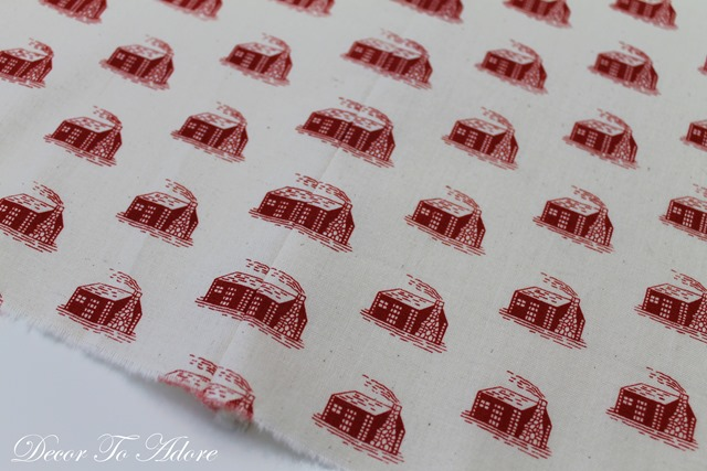 Little House Kitchen sewing tablecloth