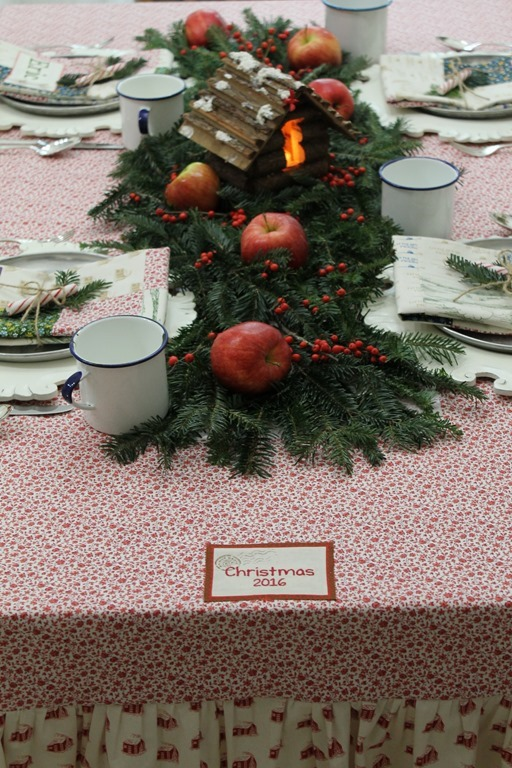 Little House Kitchen tablecloth tag