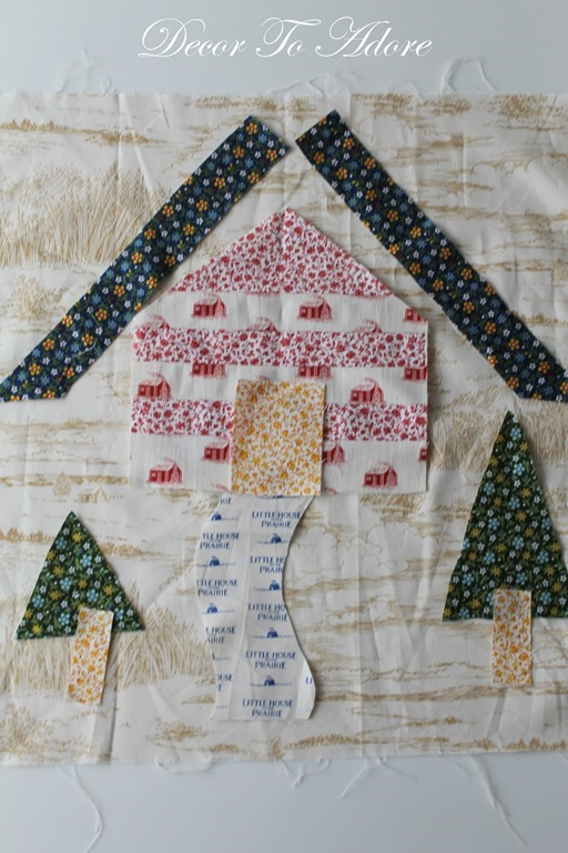 log cabin pattern pieces