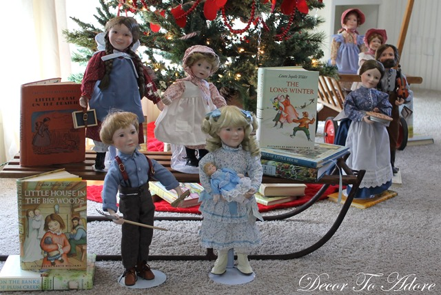 Little House on the Prairie Christmas dolls