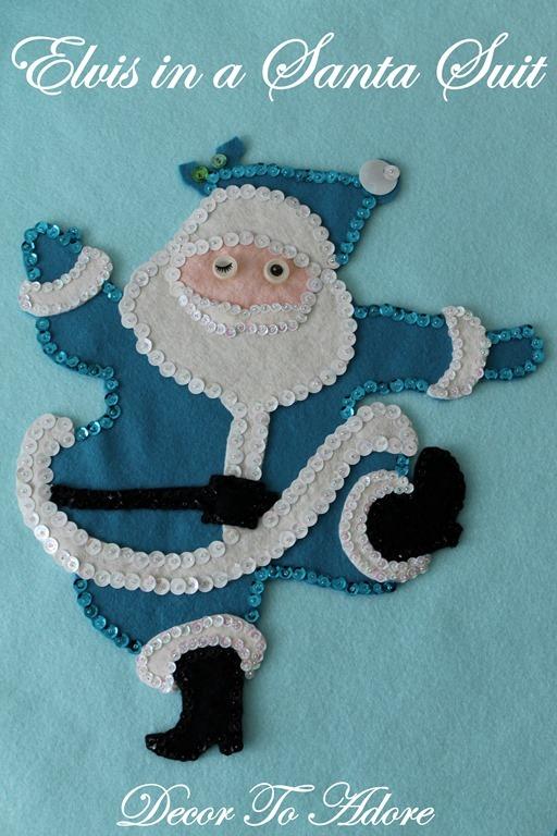 Sequin Elvis Santa