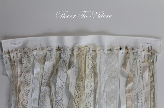 Decor To Adore pinning the lace