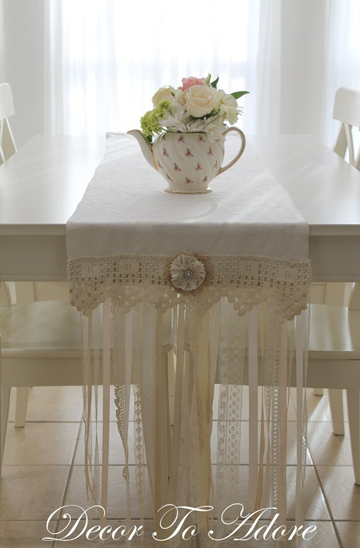 Decor To Adore Victorian Inspired Lace Table Runner