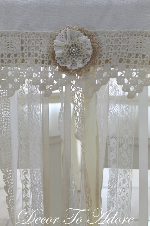 Decor To Adore Valentine's table runner antique lace