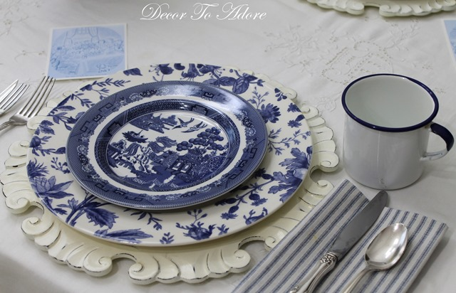 Country Party blue plates