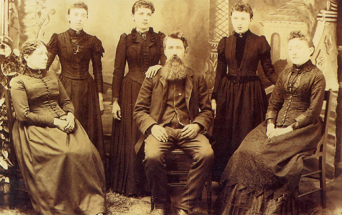 The Ingalls Family in 1891.