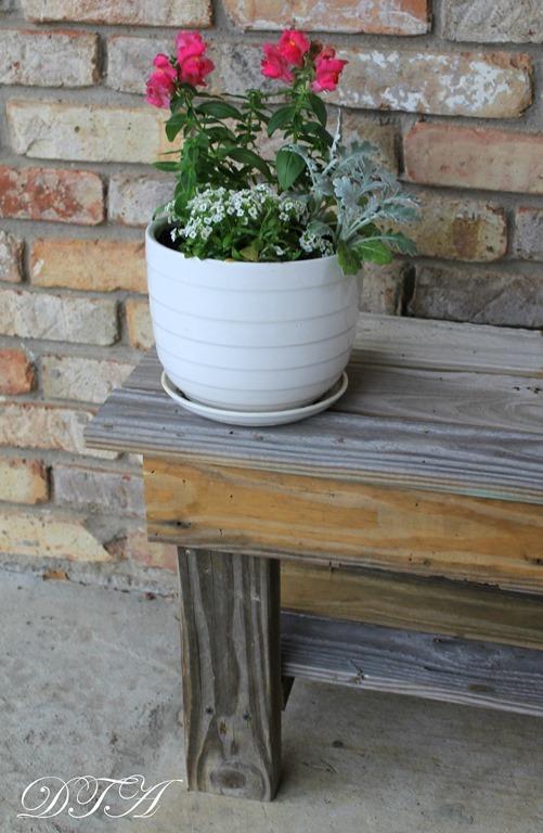 A wooden garden bench