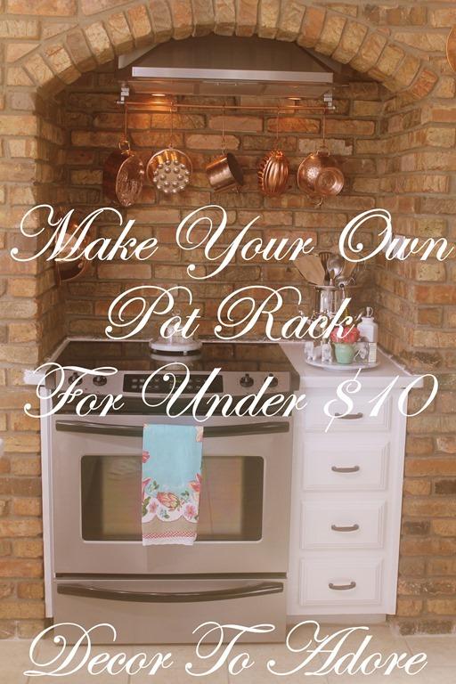 Make A Pot Rack For Under $10