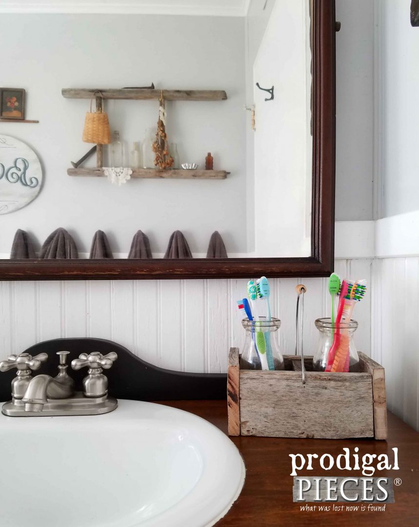 DIY Bathroom Caddy with Tutorial by Prodigal Pieces | www.prodigalpieces.com