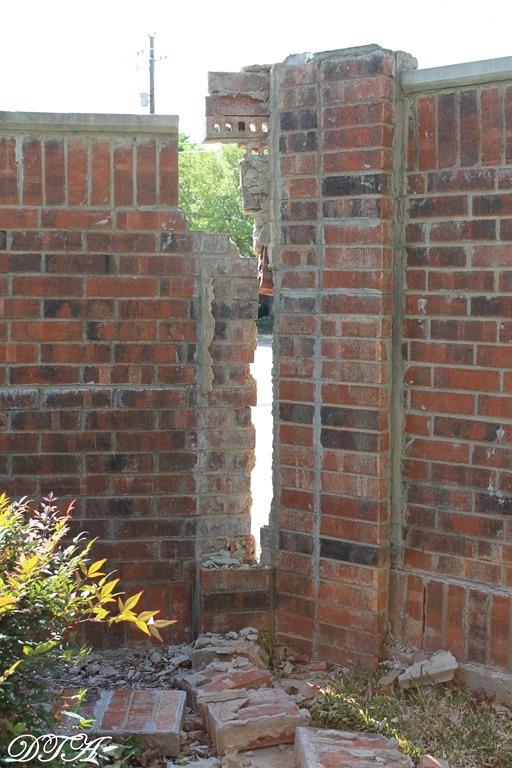 tornado brick wall