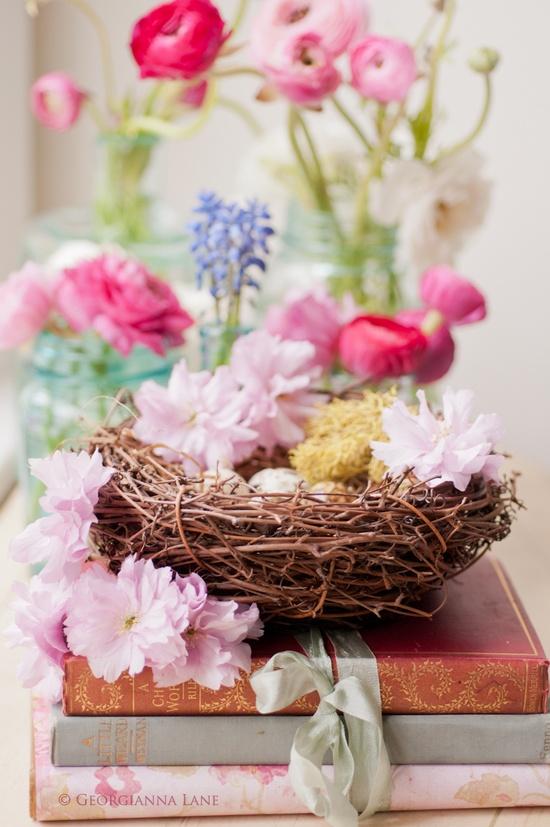Easter Flower Table Arrangements