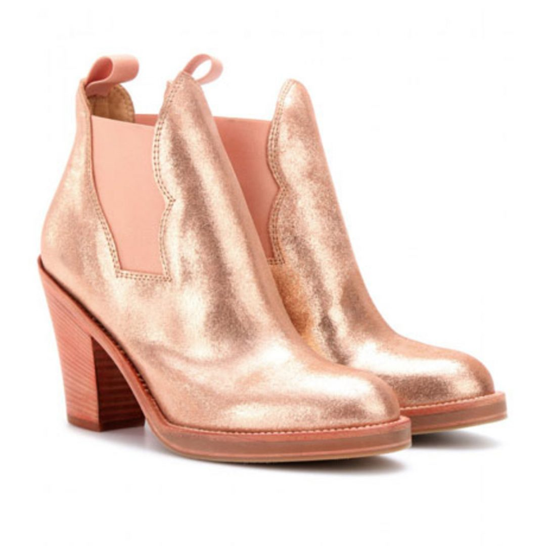 star-metallic-leather-ankle-boots