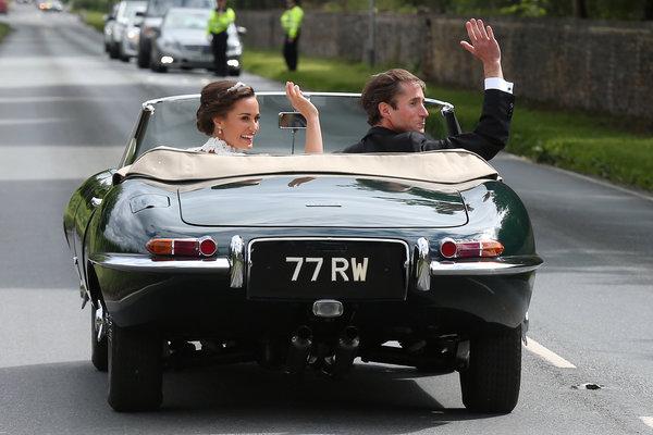 Pippa's wedding car