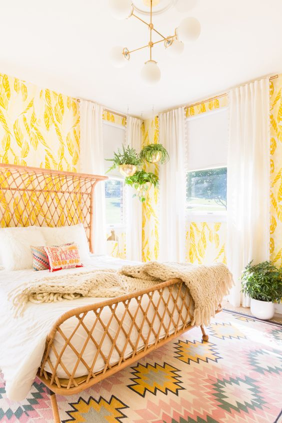 Our Sunny Guest Bedroom | A Beautiful Mess | Bloglovin':