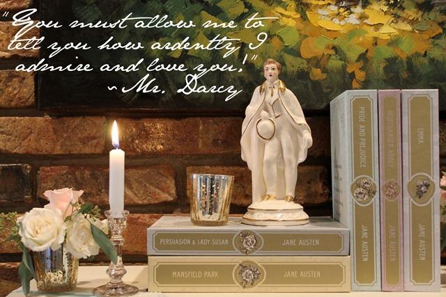 A Romantic Jane Austen Inspired Mantel
