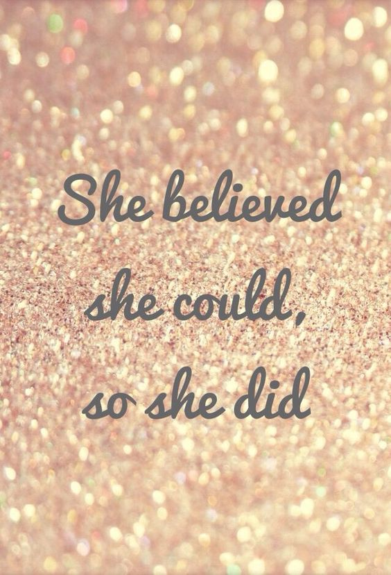 Belief is a powerful tool.