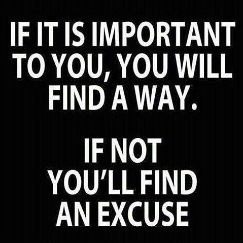 Find an excuse