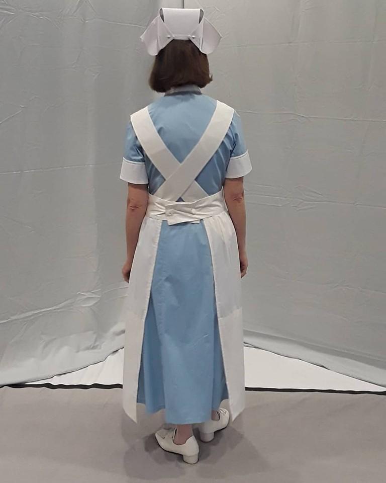 PLUS VICTORIAN//HISTORICAL//1940/'S//WARTIME Blue Matron//Nurse Uniform sizes 10